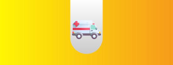 Ambulância na sede