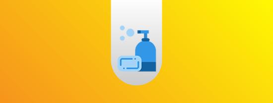 Distribuição de kits com materiais de higiene e desinfecção