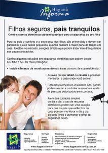 Filhos Seguros, pais tranquilos – Câmeras de monitoramento