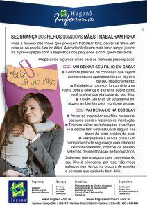 Segurança dos filhos quando as mães trabalham fora