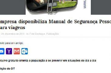 Haganá saiu no Jornal do Turismo | Manual de Segurança Pessoal